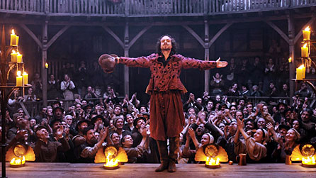 Rafe Spall as William Shakespeare in the 2011 film Anonymous (image: Sony Pictures Releasing UK)