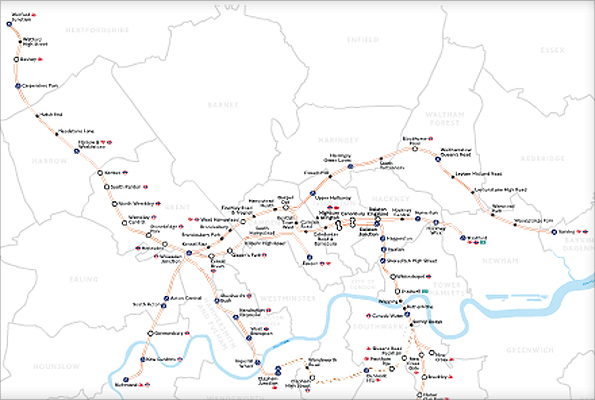Map Outer London.Bbc Mind The Gap A Step Forward For The Outer London Rail Orbital