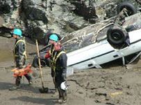 August 2004 - the clean up operation.