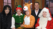 Rob Brydon (second left) is joined by Alice Cooper, Jack Dee, Bryn Terfel and Jo Brand for his Christmas Show