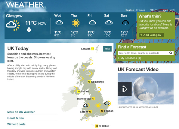 BBC - The Editors: New look for BBC Weather website
