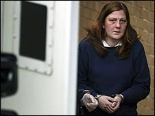 Karen Matthews leaving Dewsbury Police Sation ahead of her court appearence