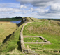 Roman soldiers built Hadrian's Wall 300 years before the Anglo-Saxons came. The Wall was no defence against invaders who came across the sea.