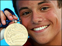Tom Daley wins gold in Rome 2009