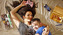 Sarah Solemani and Russell Tovey star in Him And Her, a new comedy for BBC Three