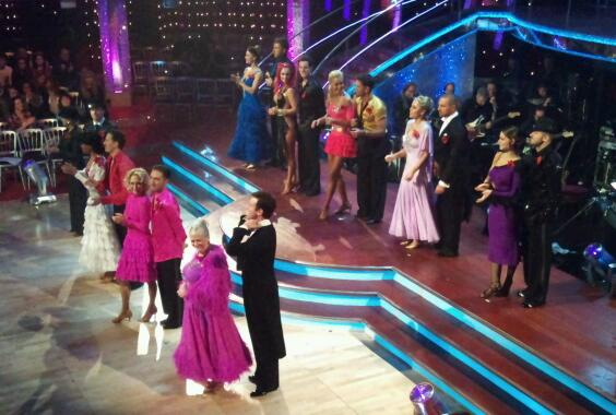 All of our Strictly couples in dress rehearsal