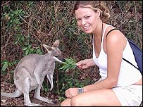 Lucy and a joey