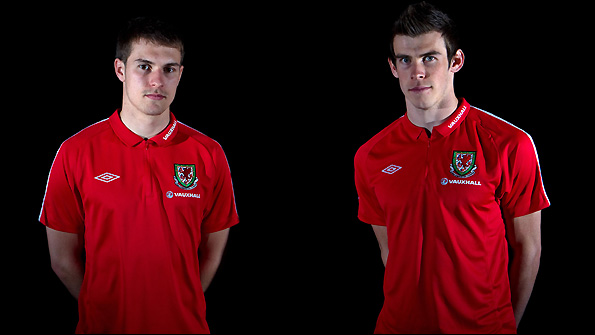 Wales duo Aaron Ramsey (left) and Gareth Bale