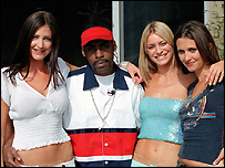 Tess with Lisa Snowden, Coolio and Jayne Middlemiss