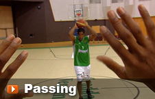 Player passing the ball to another team-mate