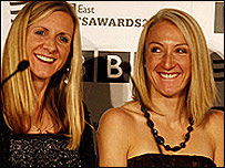 Liz Yelling and Paula Radcliffe