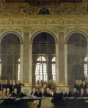 'The Signing of Peace in the Hall of Mirrors' by Sir William Orpen