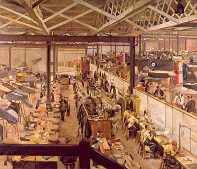 An Aircraft Assembly Shop in Hendon by Anna Airey