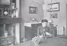 Image of a Victorian woman in a model home