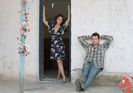 Nia Roberts and Matthew Rhys in Patagonia.