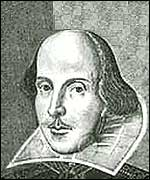 Droeshout engraving of Shakespeare