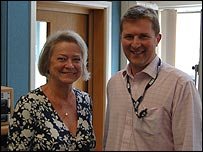 Kate Adie and Jim Cathcart