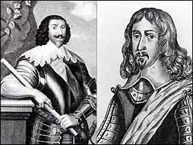 The commanders of Royalist and Parliamentary forces at Chester. On the left Lord john Byron, Royalist, on the right Sir William Brereton, Parliamentarian.