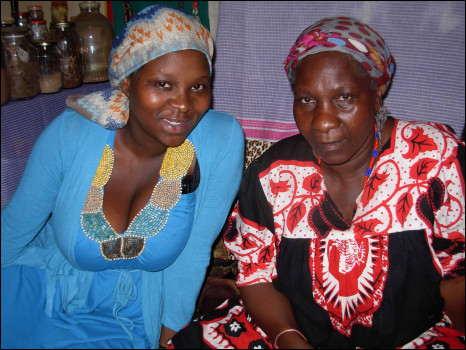 Traditional South African healer Gogo Ntintinti and journalist Lesego Mangwanyane