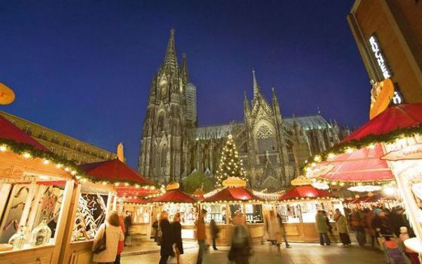 Picture of a  Christmas Market in Germany