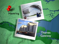 Map of Thames Gateway