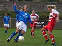 Birmingham City Ladies FC in action