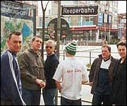Birmingham Boys in Brown on the Reeperbahn