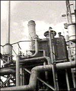 Pipework at a chemical processing unit