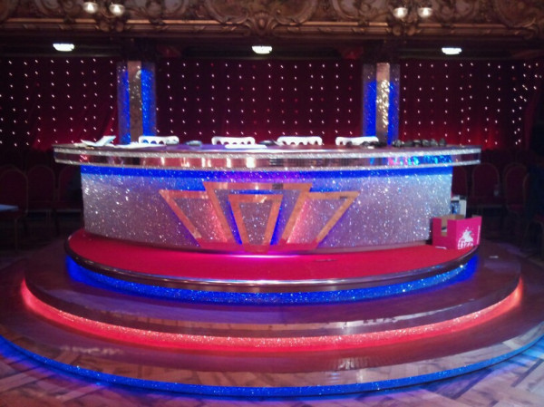 The judges' desk made it to Blackpool! Wonder who'll get the first 10?