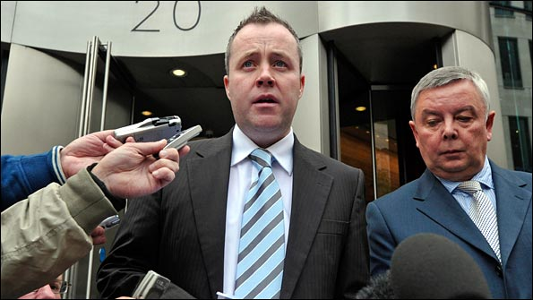 Snooker star John Higgins after his match-fixing hearing