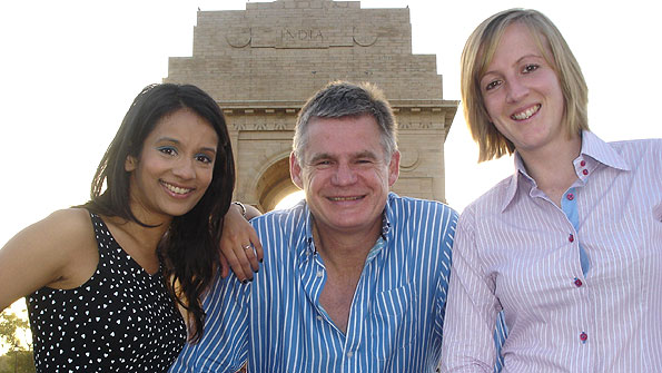 Newsround's Sonali Shah and Sport Monthly's Katie Still join John at India Gate