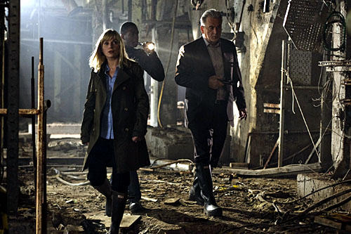 Eva Birthistle as Detective Superintendent Sarah Cavendish, Will Johnson as Detective Inspector Spencer Jordan and Trevor Eve as Detective Superintendent Peter Boyd in Waking The Dead.