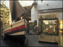 Lifeboat in the museum