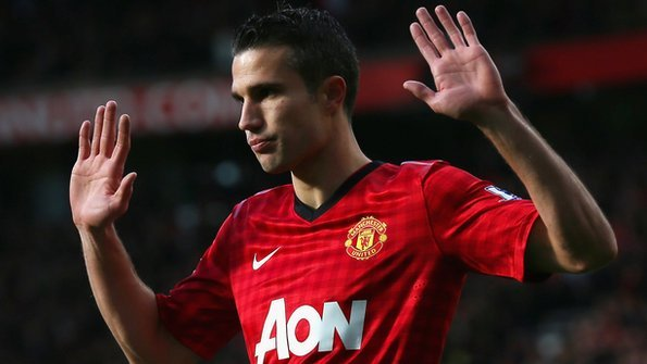 62663a5fb5f Van Persie s celebration was muted after scoring against his old club  Arsenal. Photo  Getty