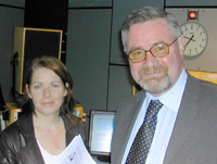 John Thompson with Deirdre Donnelly