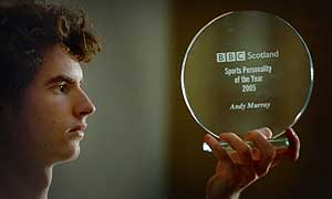 Andrew Murray with his BBC Scotland award