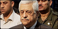 Palestinian President Mahmoud Abbas at Friday prayers