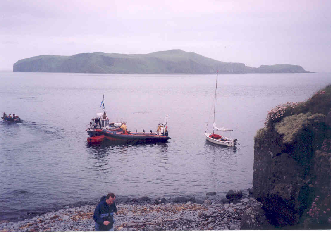 Eilean Mhuire overlooking the embarkation point