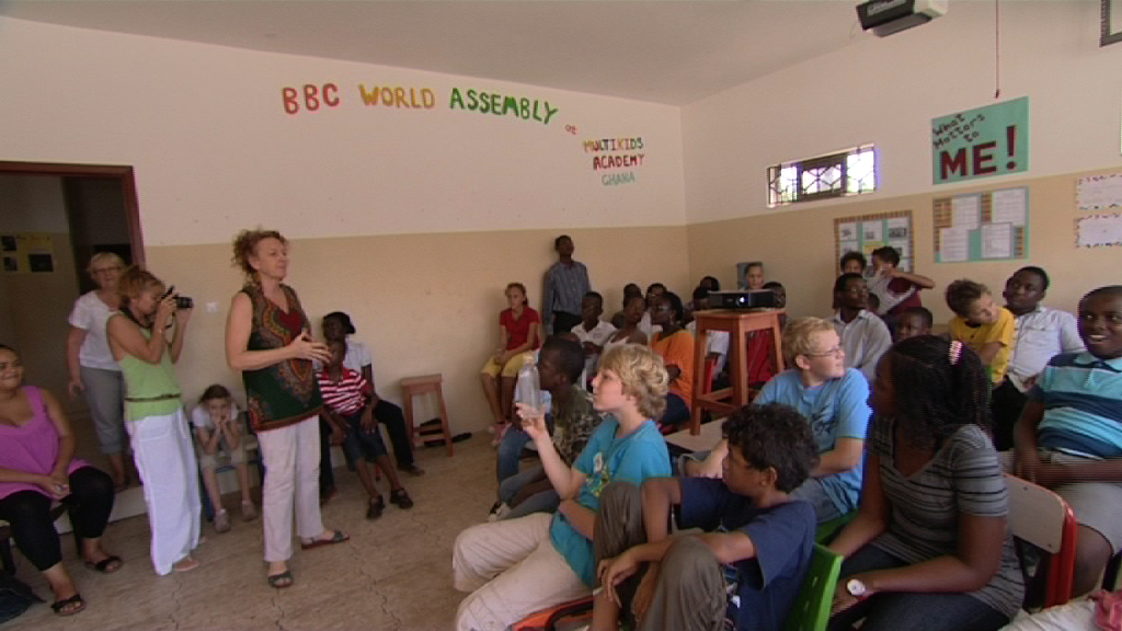 Multikids Academy in Ghana gets ready for their big assembly