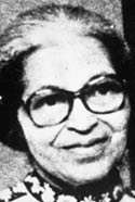 American civil rights activist Rosa Parks, whose refusal to give up her seat for a white man was the catalyst for the Montgomery bus boycott