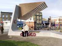 Proposed memorial at Bethnal Green Underground