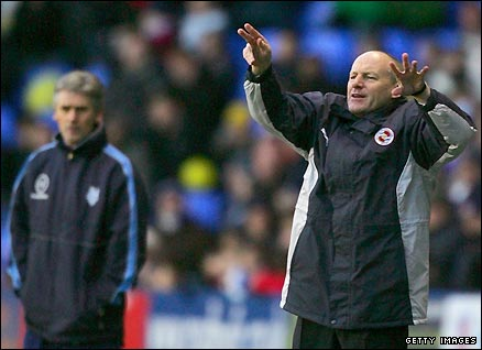 Steve Coppell watches his team in action against Preston