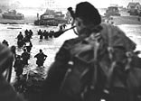 British troops landed on Sword beach in the face of fierce but short-lived German opposition, then pushed quickly inland