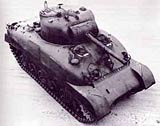 Image of the American Sherman tank - an important resource to the Allies in World War Two