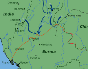 Bbc History World Wars Animated Map The Burma Campaign