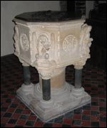 Font at St Sampson's Church