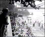The early days of Tower Beach