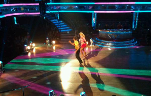 Scott Maslen and Natalie Lowe in the Strictly dress rehearsal