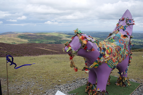 Superlambanana on Moel Famau