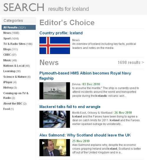 Iceland search
